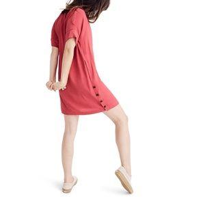 Madewell Journal Side Button Dress  Medium